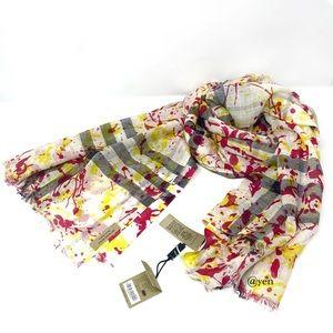 Burberry splash gauze giant check scarf